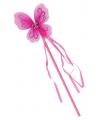 Fuchsia toverstaf met vlindertje