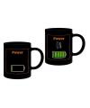Warmte koffiemok Power on