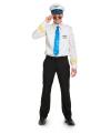 Funny piloot outfit voor heren M/L Wit