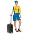 Funny stewardess uniform voor dames L/XL Multi