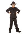 Gangster kostuum voor kids 104 Zwart