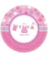 Geboorte feest bordjes its a baby girl
