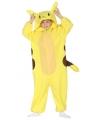 Geel anime kostuum voor kinderen 10-12 jaar (140-152) Geel
