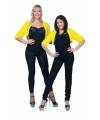Geel nepbonten jasje voor dames