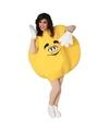Geel snoep kostuum voor volwassenen S Geel