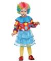 Gekleurd clown pakje voor meisjes 6-12 maanden (74-80) Multi