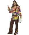 Verkleedkleding hippie pak heren