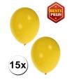Ballonnen geel 15 stuks