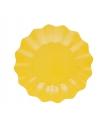 Gele diepe wegwerp bordjes 27 cm