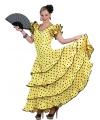 Gele jurk Spaanse danseres 40-42 (L/XL) Geel