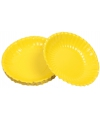 Gele snack schaaltjes 16 cm