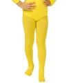 Gele kinder panty voor bij body