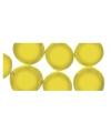 Mozaiek steentjes geel rond