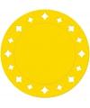 Gele wegwerp placemats 33 cm