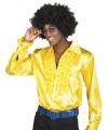 Gele rouche overhemd voor heren M Geel