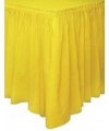 Gele tafelkleed rand