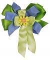 Luxe geschenk strik blauw / groen