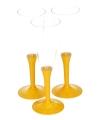 Gele champagne glazen 10 stuks