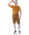Golfers kostuum oranje voor heren 52-54 (XL) Oranje
