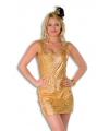 Goud stretch jurkje voor dames