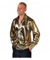 Gouden disco overhemd voor heren