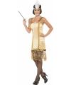 Gouden Charleston flapper jurkje en hoofdband