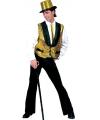 Gouden disco gilet voor heren L Goudkleurig