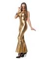 Gouden disco jumpsuit voor dames 38 (M) Goudkleurig