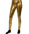 Gouden legging voor dames