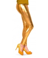 Metallic legging goud