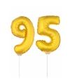 Folie ballonnen cijfer 95 goud 41 cm