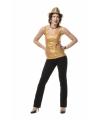 Gouden topje voor dames 40 Goudkleurig