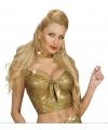 Gouden topjes voor dames S/M Goudkleurig