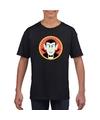 Graaf Dracula halloween t-shirt zwart voor jongens en meisjes S (122-128) Zwart