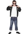 Grease verkleedkleding jasje 9-12 jaar Zwart