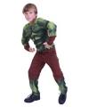 Groen gespierd monster kostuum voor jongens 120-130 (7-9 jaar) Multi