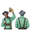 Groen met wit geruite blouse voor heren 48-50 (S/M) Groen