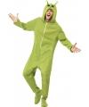 Groene alien onesie 40-50 (M) Groen