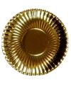 Gouden wegwerp borden 29 cm