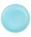 Lichtblauwe wegwerp borden 29 cm