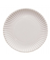 Witte wegwerp borden 23 cm