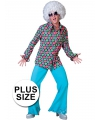 Grote maat disco overhemd met polka dots 56-58 (2XL/3XL) Multi
