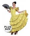Grote maat gele jurk Spaanse danseres 44-46 (2XL/3XL) Geel