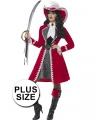 Grote maat Kapiteins kostuum voor dames 48-50 (XL) Multi