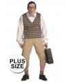 Grote maat nerd pak voor heren 60 (4XL) Multi