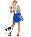 Grote maat Oktoberfest jurk blauw 46 (3XL) Blauw