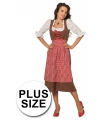 Grote maat tiroler jurk voor volwassenen 52 (6XL) Multi