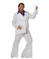 Grote maat wit Travolta kostuum voor heren 64 (6XL) Multi