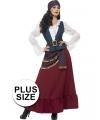 Grote maat Zigeunerin kostuum voor dames 44-46 (L) Multi
