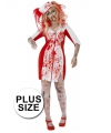 Grote maten Halloween Zombie zuster jurk dames 44-46 (L) Multi